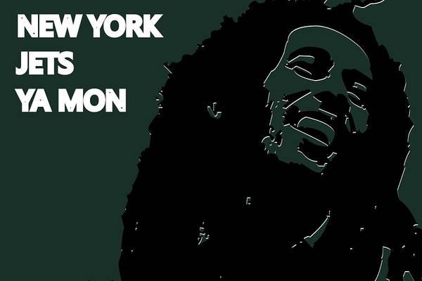 Drum Player Wall Art - Photograph - New York Jets Ya Mon by Joe Hamilton