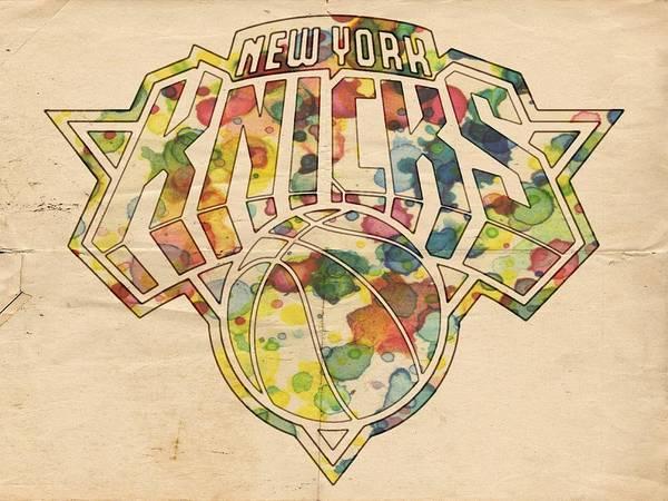 Painting - New York Knicks Logo Art by Florian Rodarte