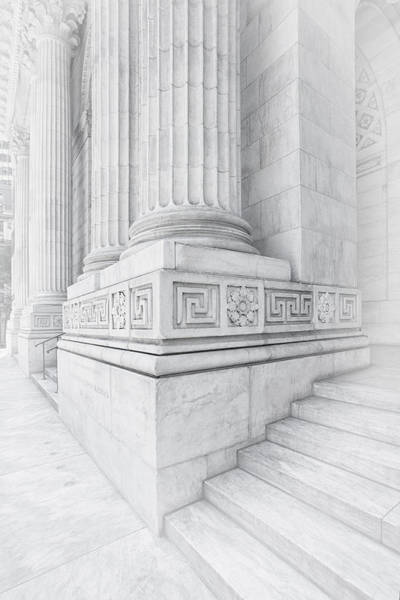Photograph - New York Library Columns by Susan Candelario