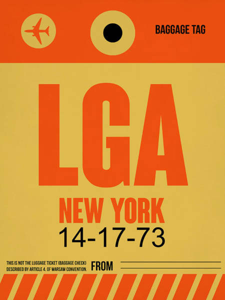 Wall Art - Digital Art - New York Luggage Poster 1 by Naxart Studio