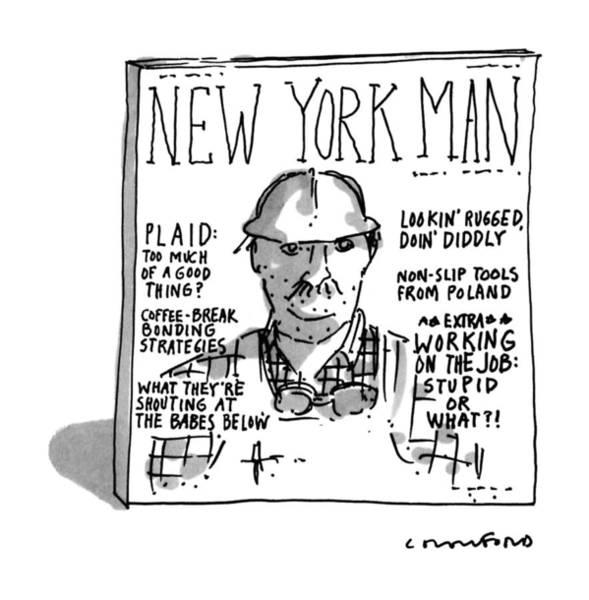 Career Drawing - New York Man by Michael Crawford