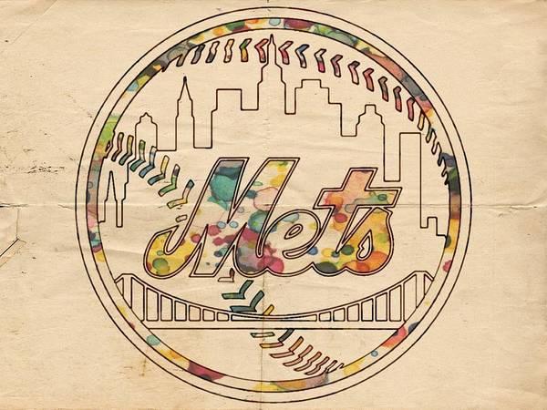 Painting - New York Mets Poster Vintage by Florian Rodarte