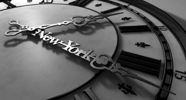 Fleur Digital Art - New York Minute Clock Hands by Allan Swart