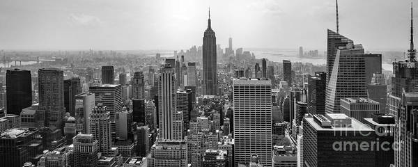 The Empire Photograph - New York Moody Skyline  by Az Jackson