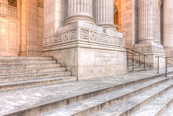 Photograph - New York Public Library Columns And Stairs IIi by Clarence Holmes