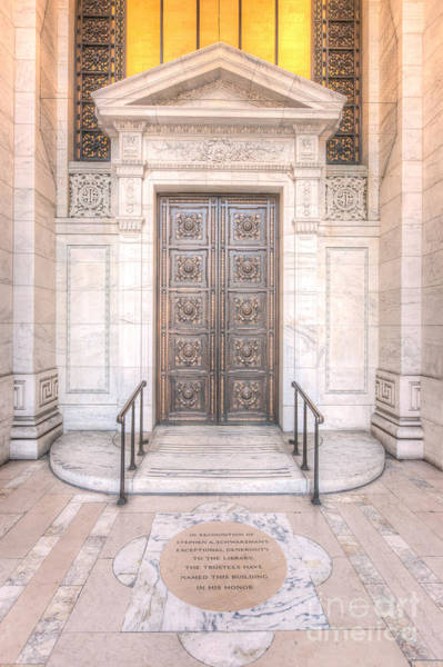 Photograph - New York Public Library Entrance I by Clarence Holmes