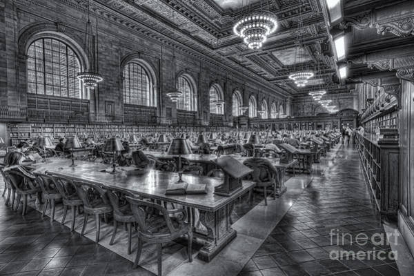 Photograph - New York Public Library Main Reading Room V by Clarence Holmes