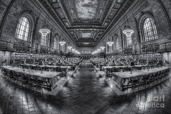 Photograph - New York Public Library Main Reading Room Viii by Clarence Holmes