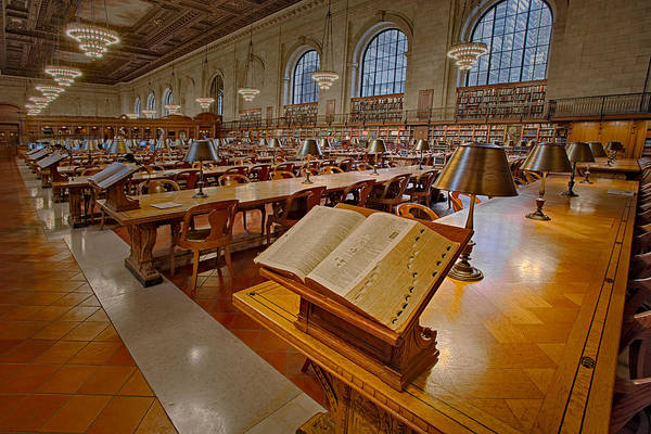Photograph - New York Public Library Rose Main Reading Room  by Susan Candelario