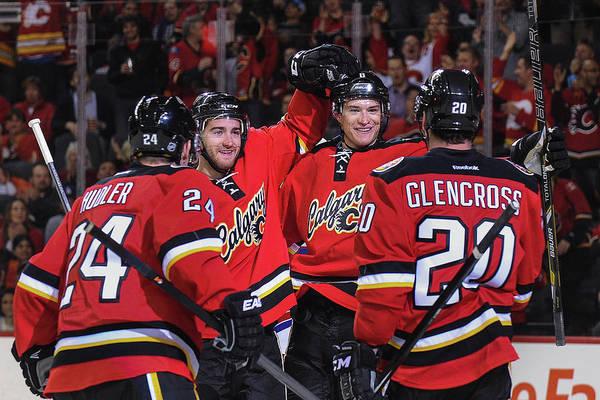 National Hockey League Photograph - New York Rangers V Calgary Flames by Derek Leung