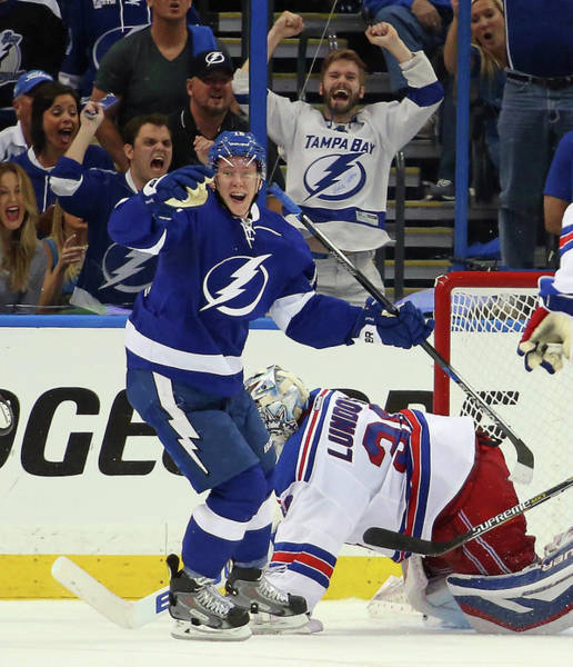 Stanley Cup Playoffs Photograph - New York Rangers V Tampa Bay Lightning by Bruce Bennett