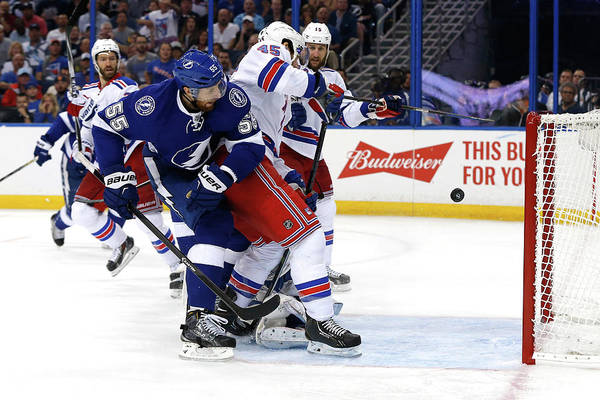 Nhl Photograph - New York Rangers V Tampa Bay Lightning by Mike Carlson