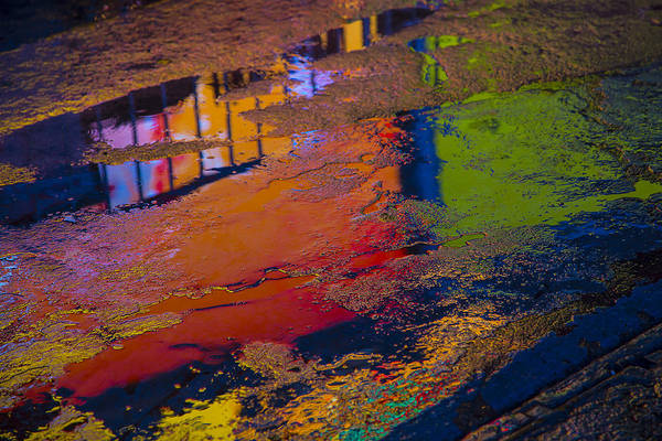 Pavement Wall Art - Photograph - New York Reflections by Garry Gay