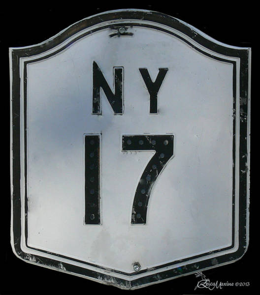Highway 86 Photograph - New York Route 17 - Featured In The Group All About New York by Ericamaxine Price