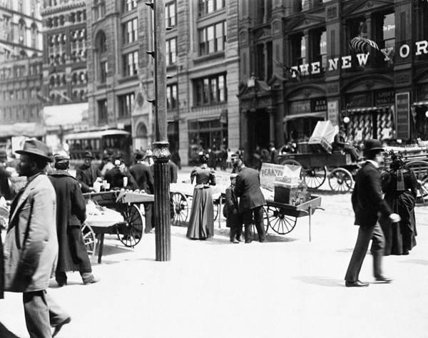 Photograph - New York Scene, 1895 by Granger