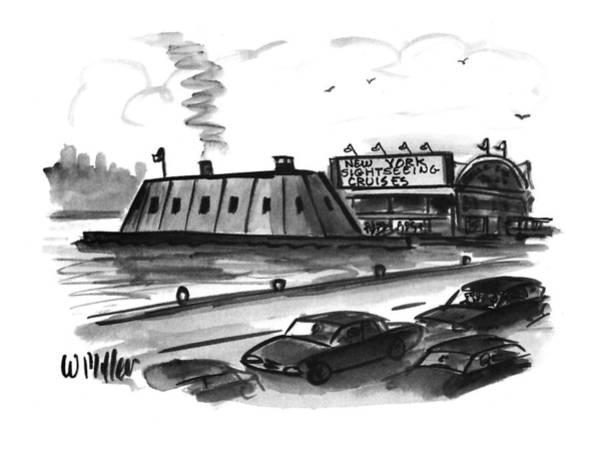 Iron Drawing - New York Sightseeing Cruises by Warren Miller