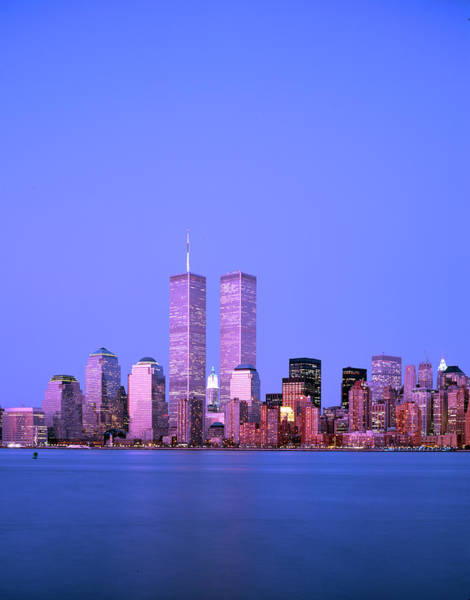 City Centre Photograph - New York Skyline Before 11th September by Alex Bartel/science Photo Library