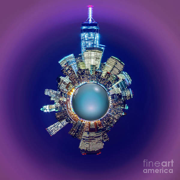 Light Blue Photograph - New York Skyline Circagraph by Az Jackson