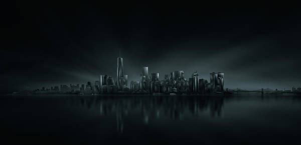 Panorama Wall Art - Photograph - New York Skyline by Miguel Angel Martin