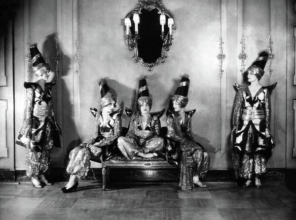 Big Five Photograph - New York Society Members Pose For A Portrait by Edward Steichen