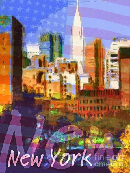 Digital Art - New York Stars by Lutz Baar