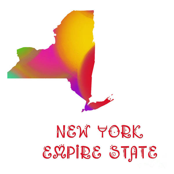 Digital Art - New York State Map Collection 2 by Andee Design