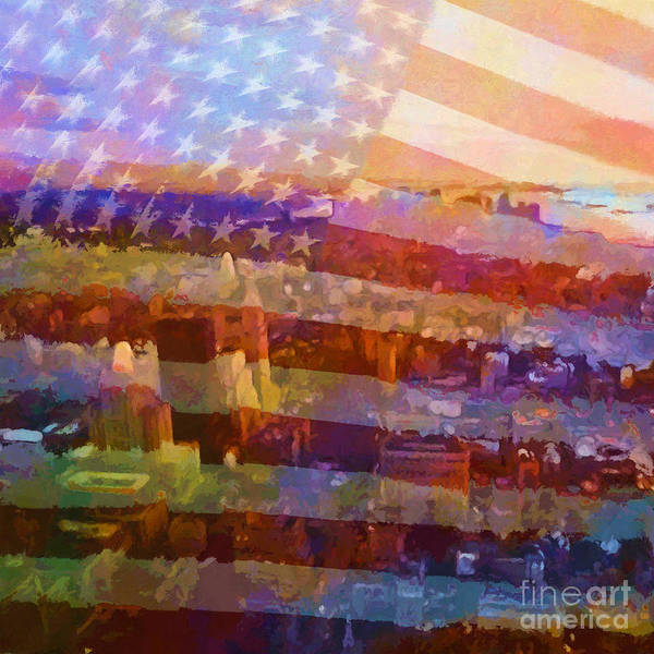 Painting - New York Stripes by Lutz Baar