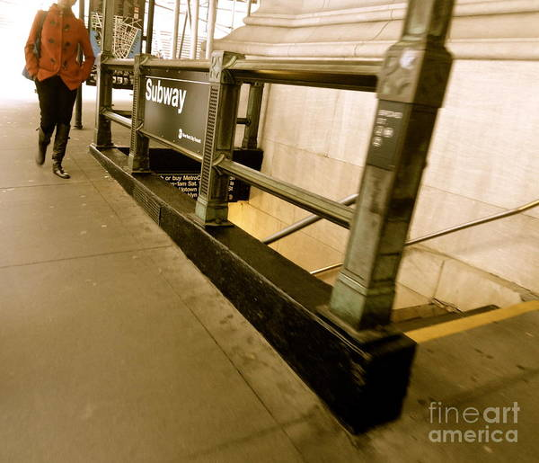 Photograph - New York Subway by Jacqueline Athmann