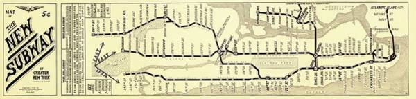 Wall Art - Photograph - New York Subway Map by Library Of Congress, Geography And Map Division