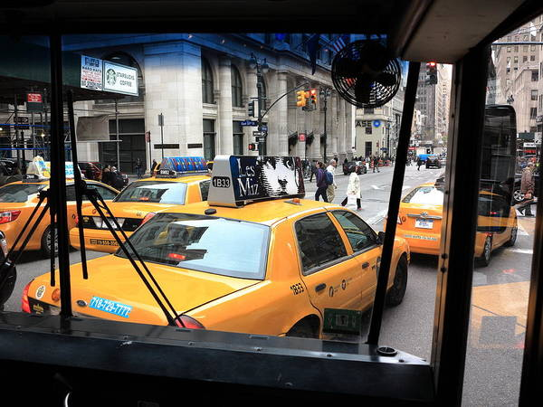 Photograph - New York Taxi Cabs by Frank Romeo
