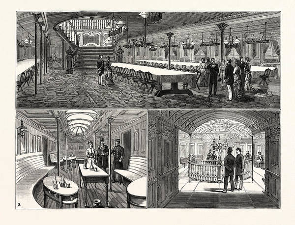 Distribution Drawing - New York The Latest Achievement In American Steamship by American School