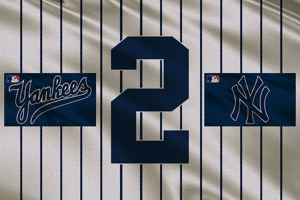 Outfield Wall Art - Photograph - New York Yankees Derek Jeter by Joe Hamilton