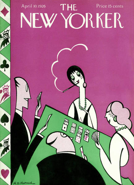 Pink Painting - New Yorker April 10th, 1926 by H O Hofman