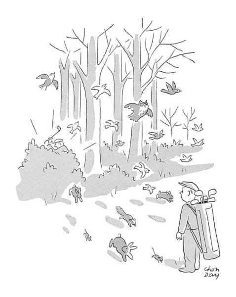 Watch Out Wall Art - Drawing - New Yorker April 10th, 1954 by Chon Day