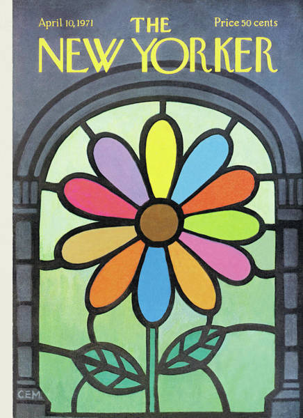 Flower Petals Painting - New Yorker April 10th, 1971 by Charles E Martin