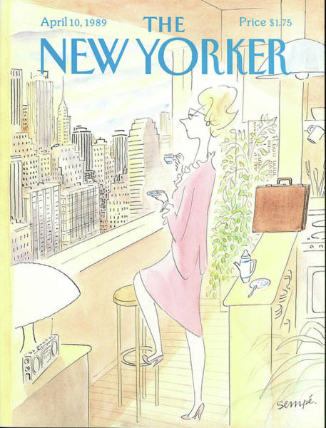 View Painting - New Yorker April 10th, 1989 by Jean-Jacques Sempe
