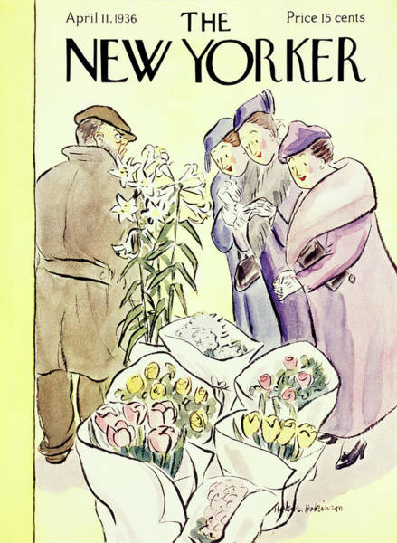 Plant Painting - New Yorker April 11 1936 by Helene E. Hokinson