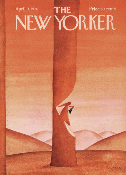 Painting - New Yorker April 11th, 1970 by Jean-Michel Folon