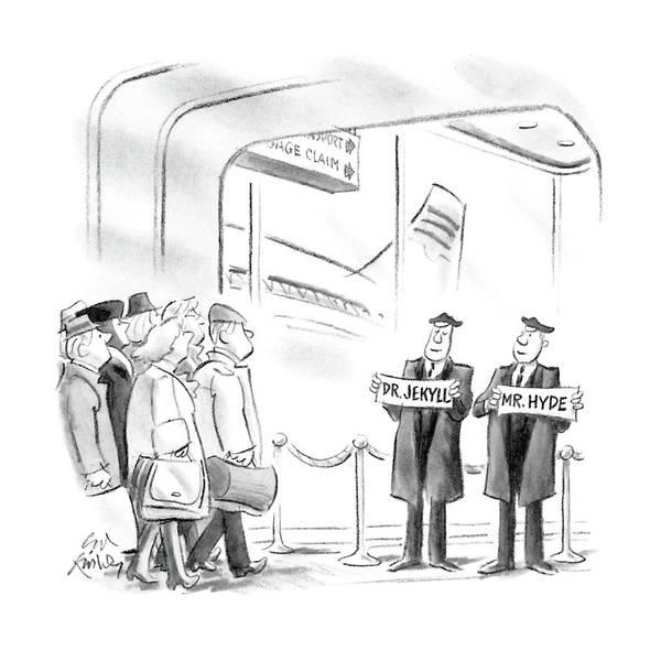 Plane Drawing - New Yorker April 11th, 1988 by Ed Fisher