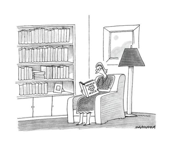 Reading Drawing - New Yorker April 11th, 1988 by Mick Stevens
