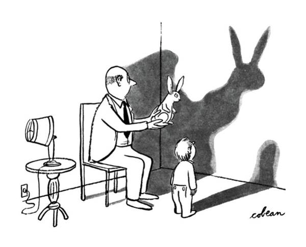 Silhouette Drawing - New Yorker April 12th, 1947 by Sam Cobean