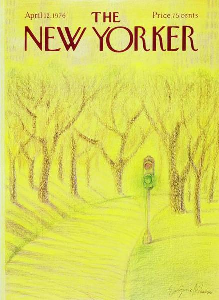 Traffic Painting - New Yorker April 12th 1976 by Eugene Mihaesco