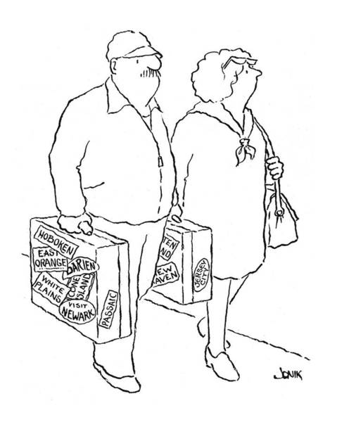 Suburb Drawing - New Yorker April 12th, 1976 by John Jonik