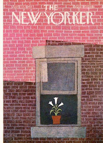 Floral Painting - New Yorker April 13th, 1968 by Charles E Martin