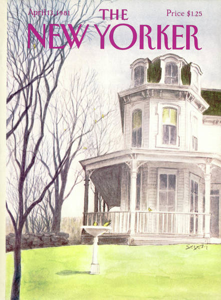 Suburban Painting - New Yorker April 13th, 1981 by Charles Saxon