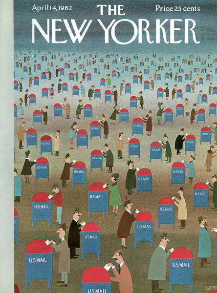 1962 Painting - New Yorker April 14th, 1962 by Charles E Martin