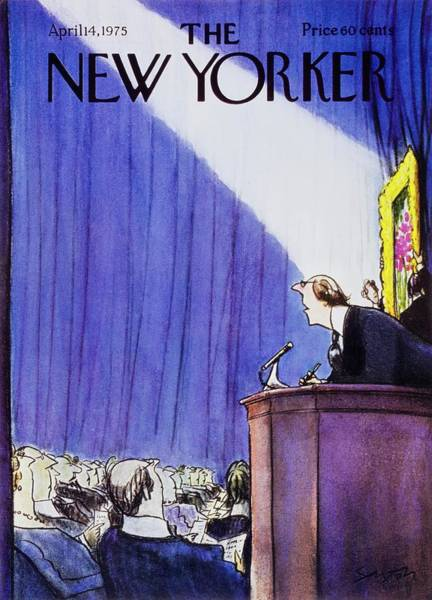 Wall Art - Painting - New Yorker April 14th 1975 by Charles D Saxon