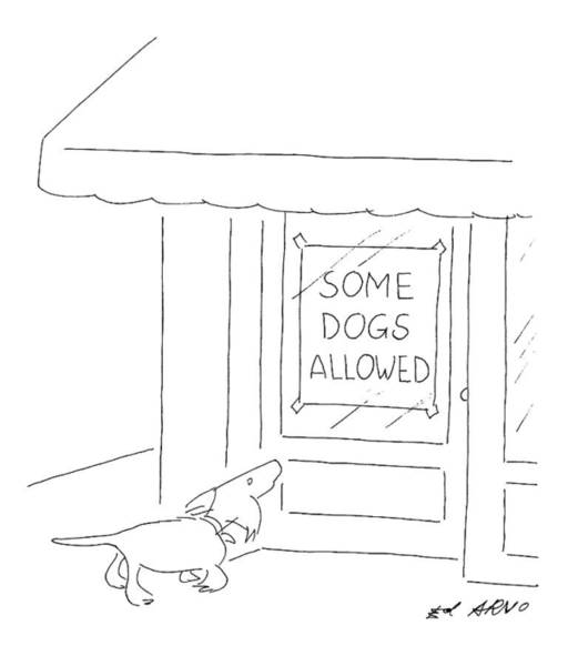 Pet Store Drawing - New Yorker April 14th, 1997 by Ed Arno