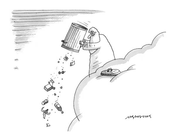 Trash Drawing - New Yorker April 14th, 1997 by Mick Stevens