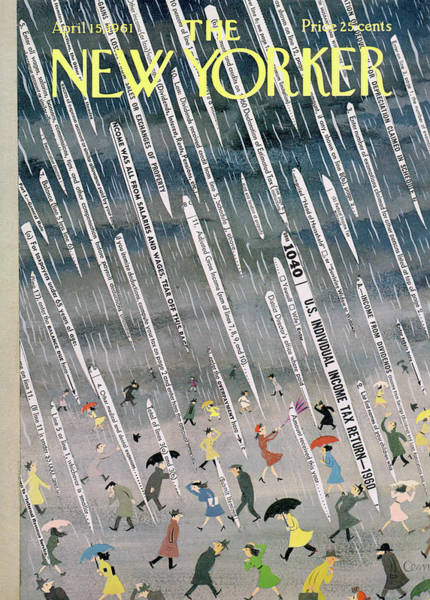 Money Painting - New Yorker April 15th, 1961 by Charles E Martin